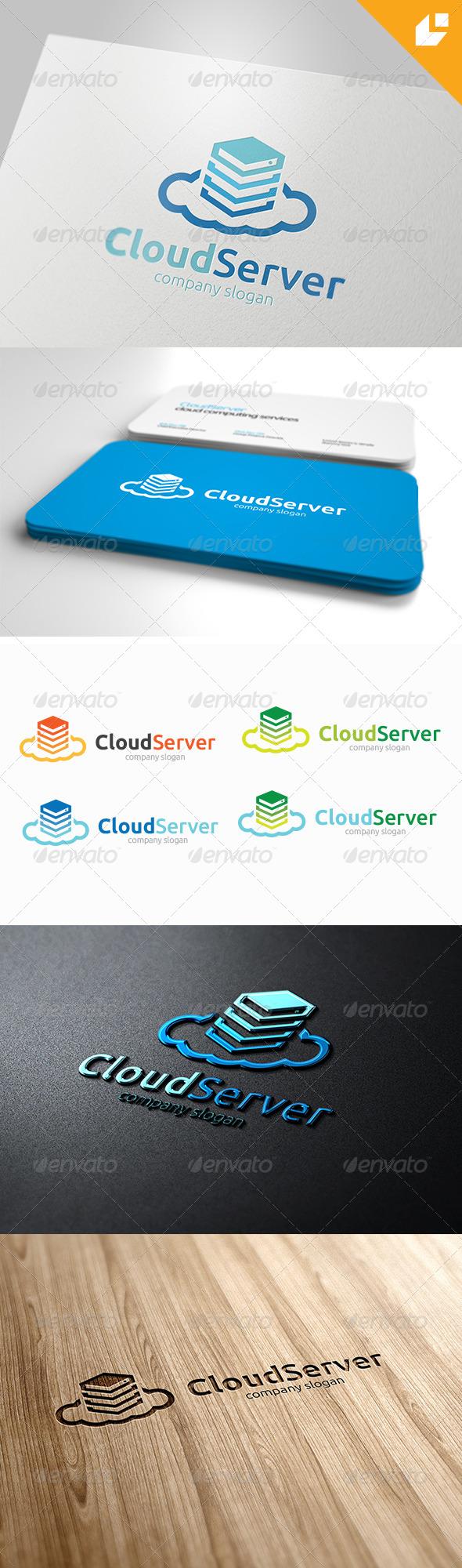 GraphicRiver Cloud Server Logo 4157211