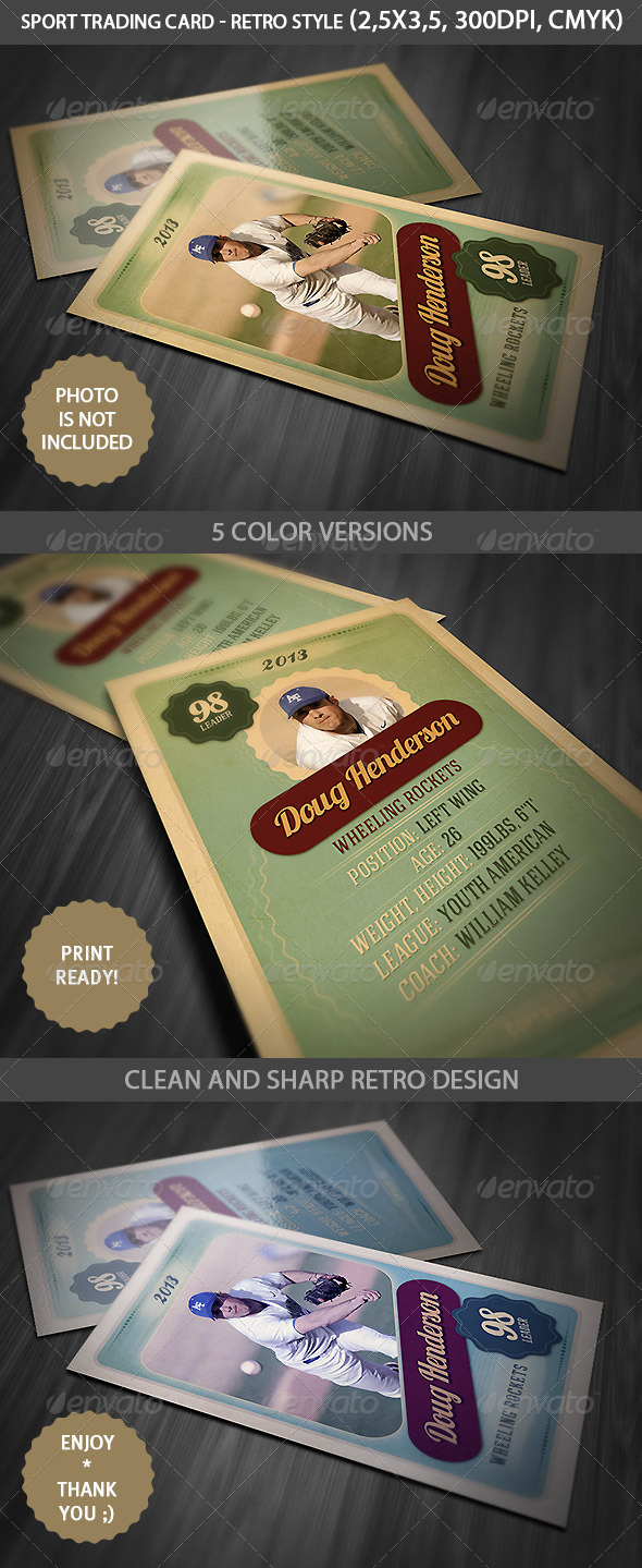Sport Trading Card - Miscellaneous Print Templates