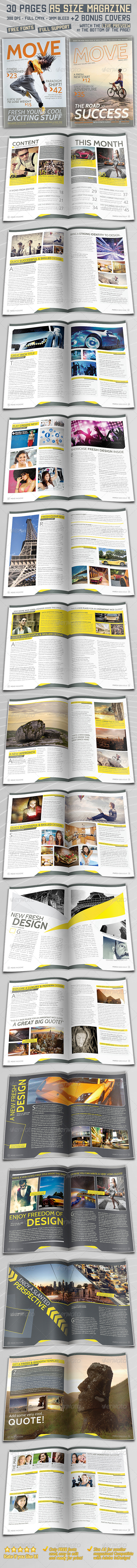 GraphicRiver A5 Magazine 30 Pages & 2 Covers 4157872