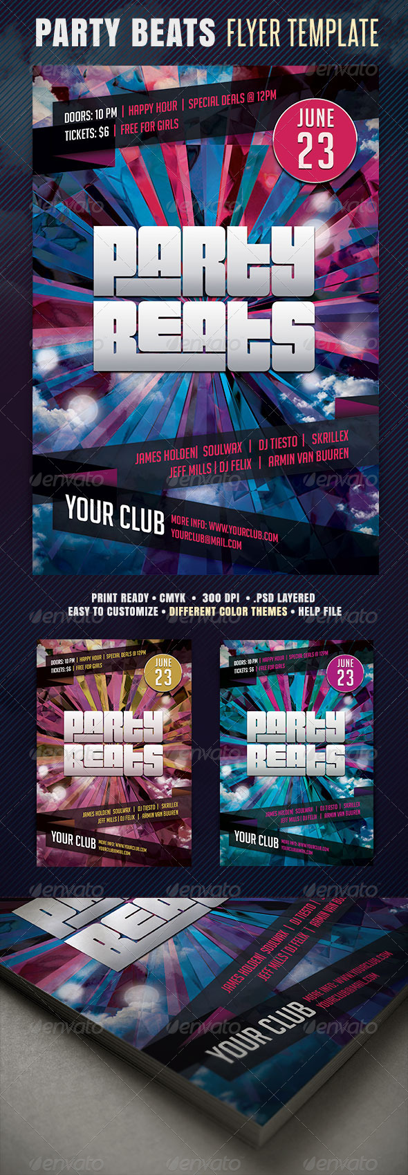 GraphicRiver Party Beats Flyer 4157981