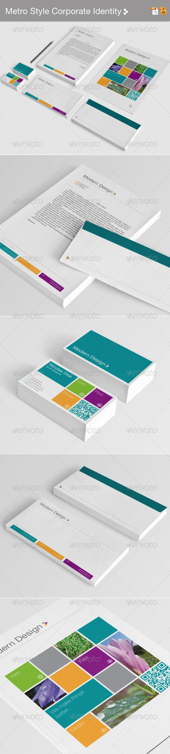 GraphicRiver Metro Style Corporate Identity 4158000