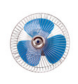 Fan with blue propeller - PhotoDune Item for Sale