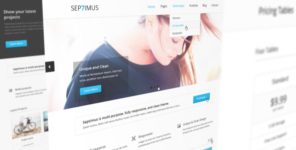 ThemeForest Septimus Responsive Site Template 4158060