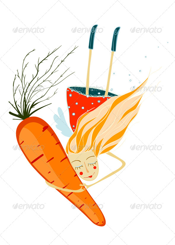 GraphicRiver Girl with Carrot 4158224