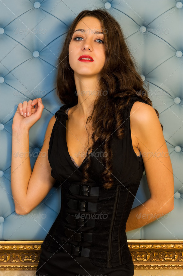 Portrait of the beautiful woman - Stock Photo - Images