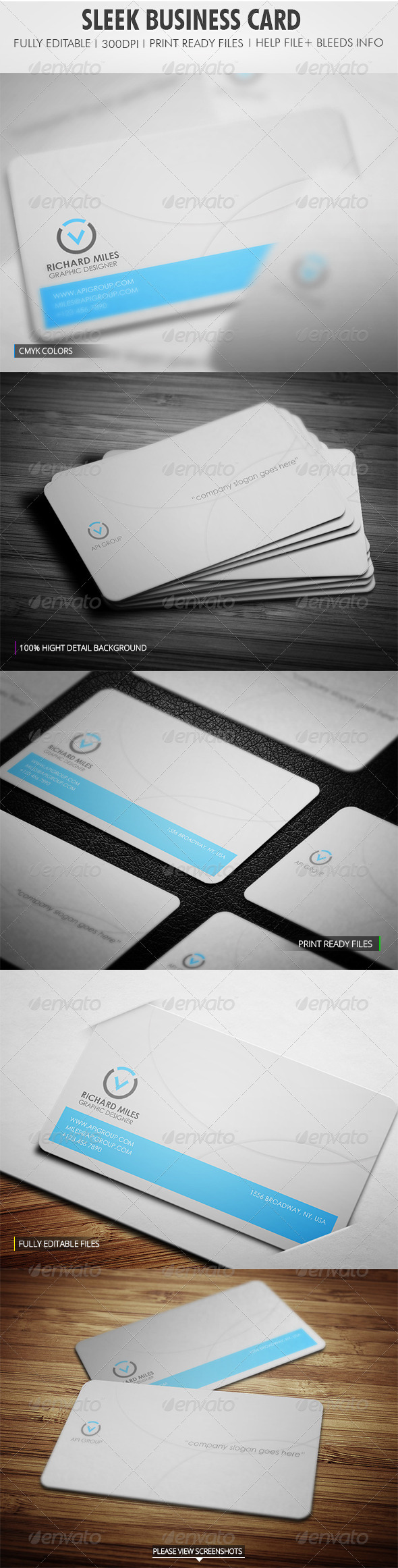 GraphicRiver Sleek Business Card 4158241