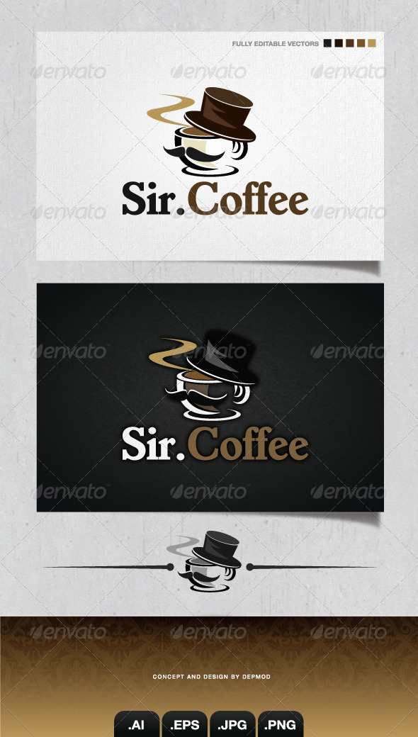 GraphicRiver Sir Coffee Logo 4079626