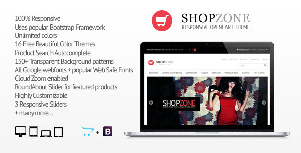 ThemeForest Shopzone Responsive Opencart Theme 4148994