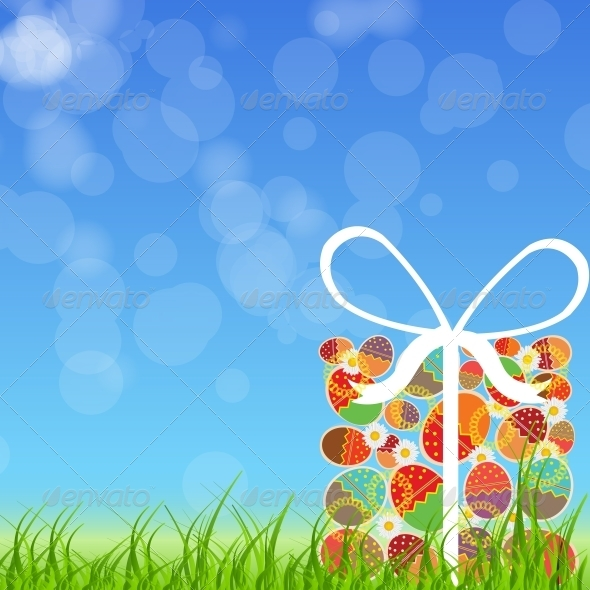 GraphicRiver Easter Eggs Card with Colourful Eggs 4159120