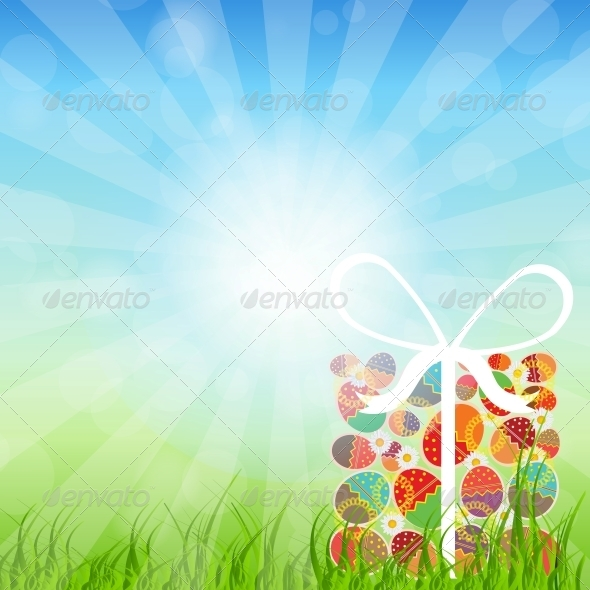 GraphicRiver Easter Eggs Card with Colourful Eggs 4159128