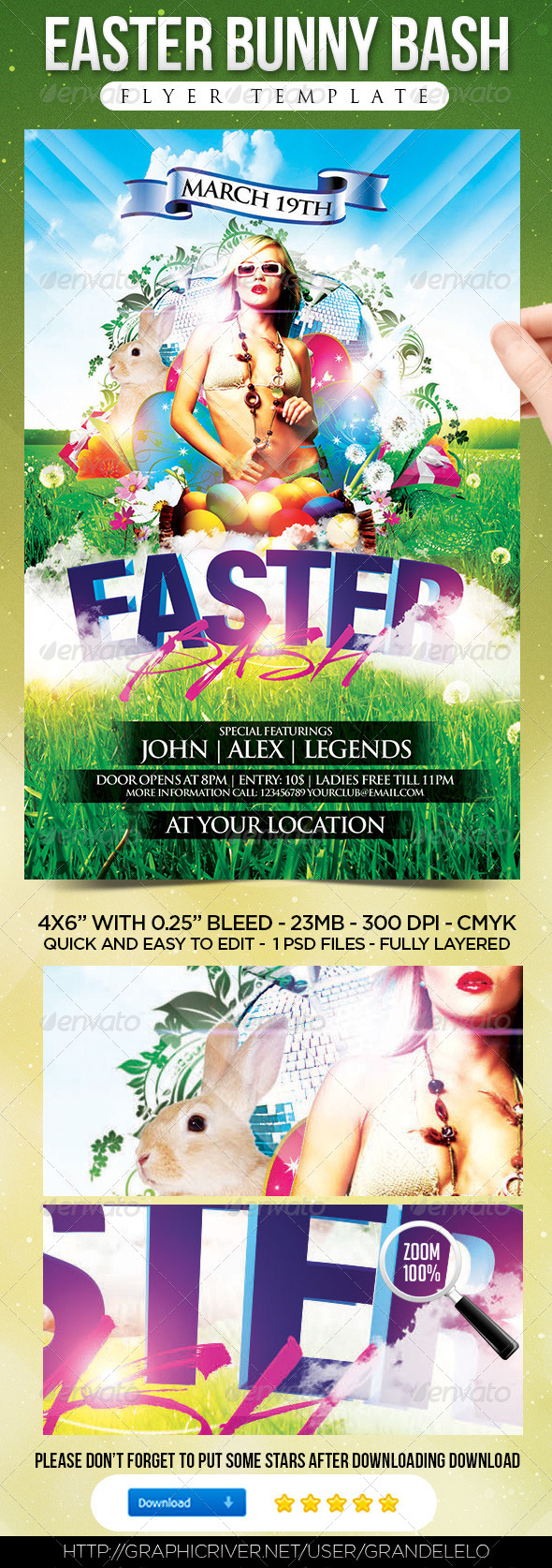 GraphicRiver Easter Bash Flyer Template 4159129