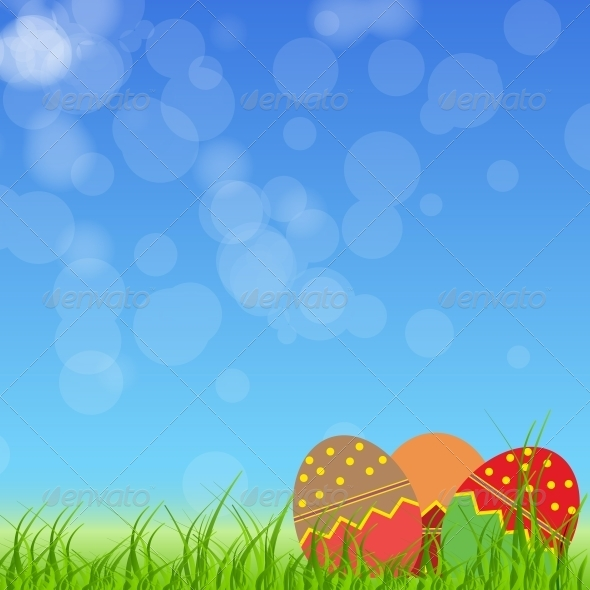 GraphicRiver Easter Eggs Card with Colourful Eggs 4159131