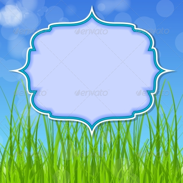 GraphicRiver Easter Card with Grass 4159224