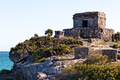 Mayan Ruins above the Ocean at Tulum - PhotoDune Item for Sale