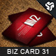 Business Card Design 31 - GraphicRiver Item for Sale