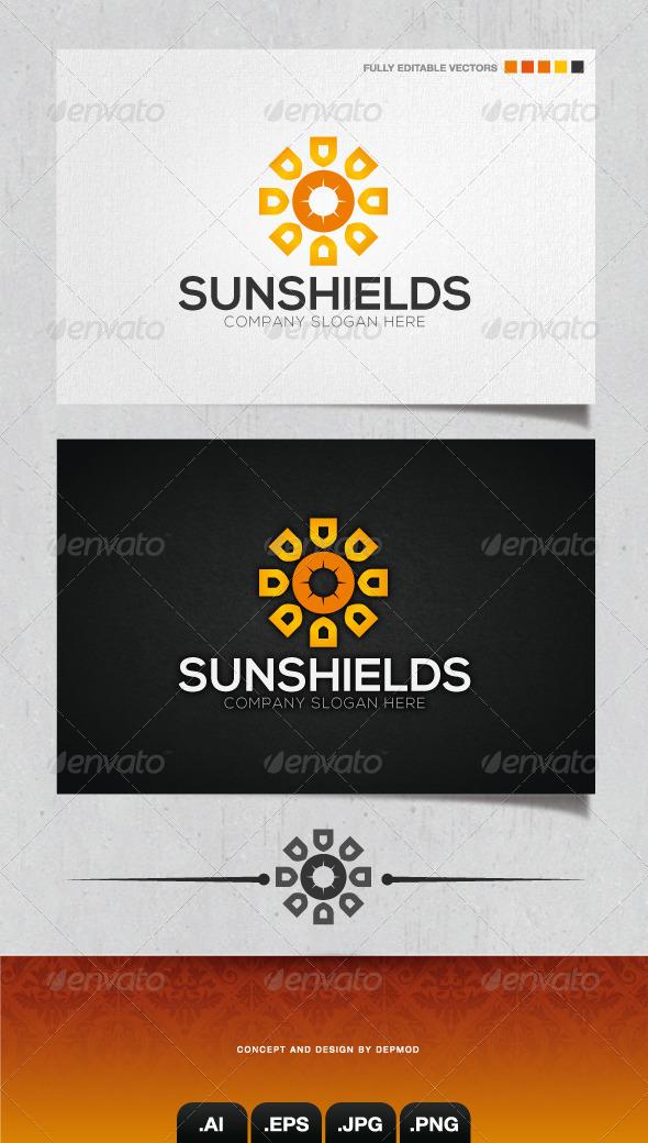 GraphicRiver Sun Shields Logo 4160646