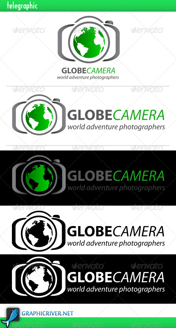 Globe Camera Logo - Nature Logo Templates