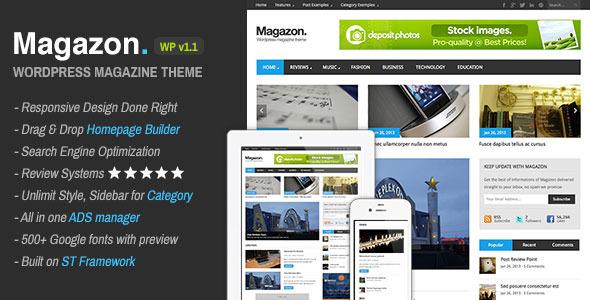 ThemeForest Magazon Advanced Responsive WP Magazine Theme 4126729
