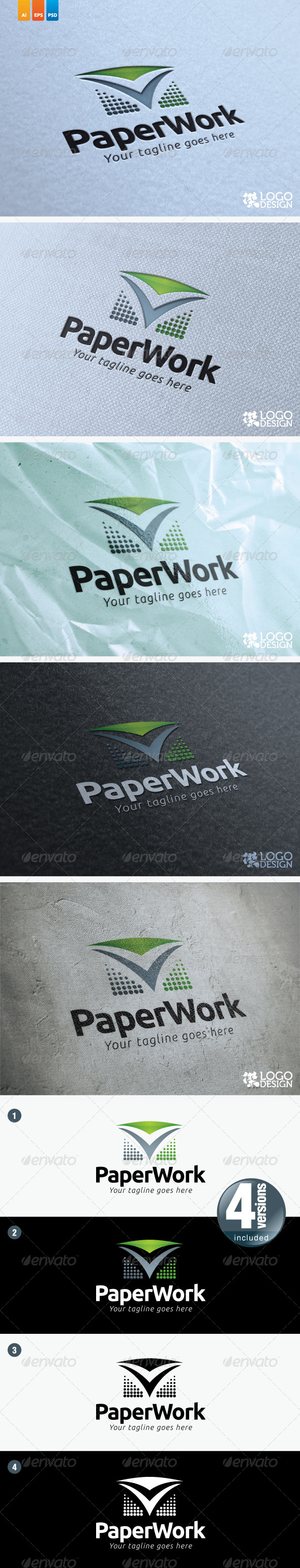 Paper Work - Objects Logo Templates