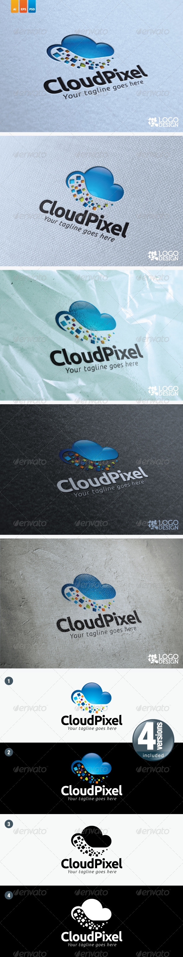 Cloud Pixel - Symbols Logo Templates