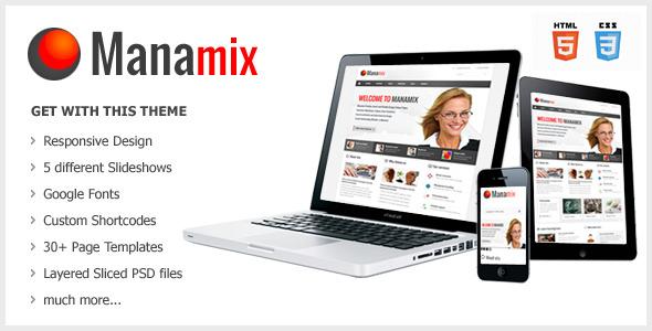 Manamix - Responsive Multipurpose Template