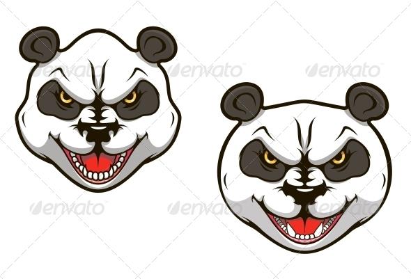 Angry panda bear