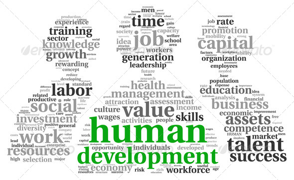 Human development concept in tag cloud - Stock Photo - Images
