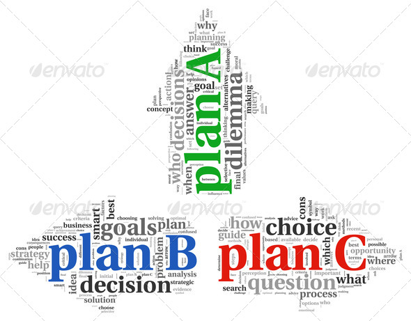 Arrows with plan A plan B and plan C - Stock Photo - Images
