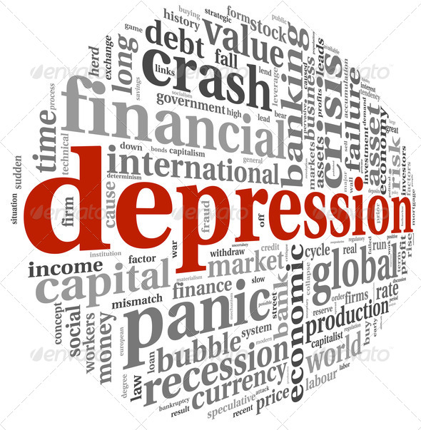 Depression concept on white - Stock Photo - Images
