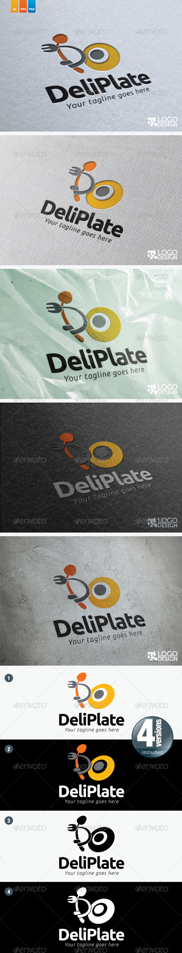 Deli Plate - Food Logo Templates