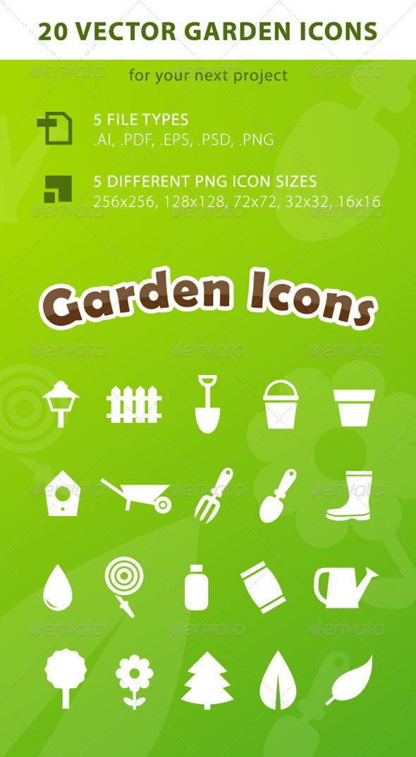 GraphicRiver 20 Vector Garden Icons 4162555