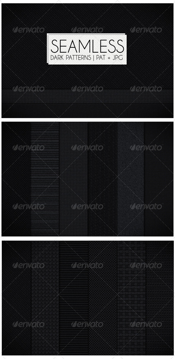 GraphicRiver 12 Seamless Dark Patterns 4162640