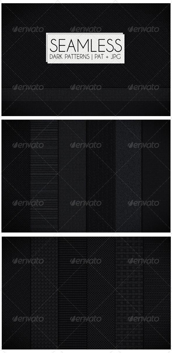 GraphicRiver 12 Seamless Dark Patterns 4162640