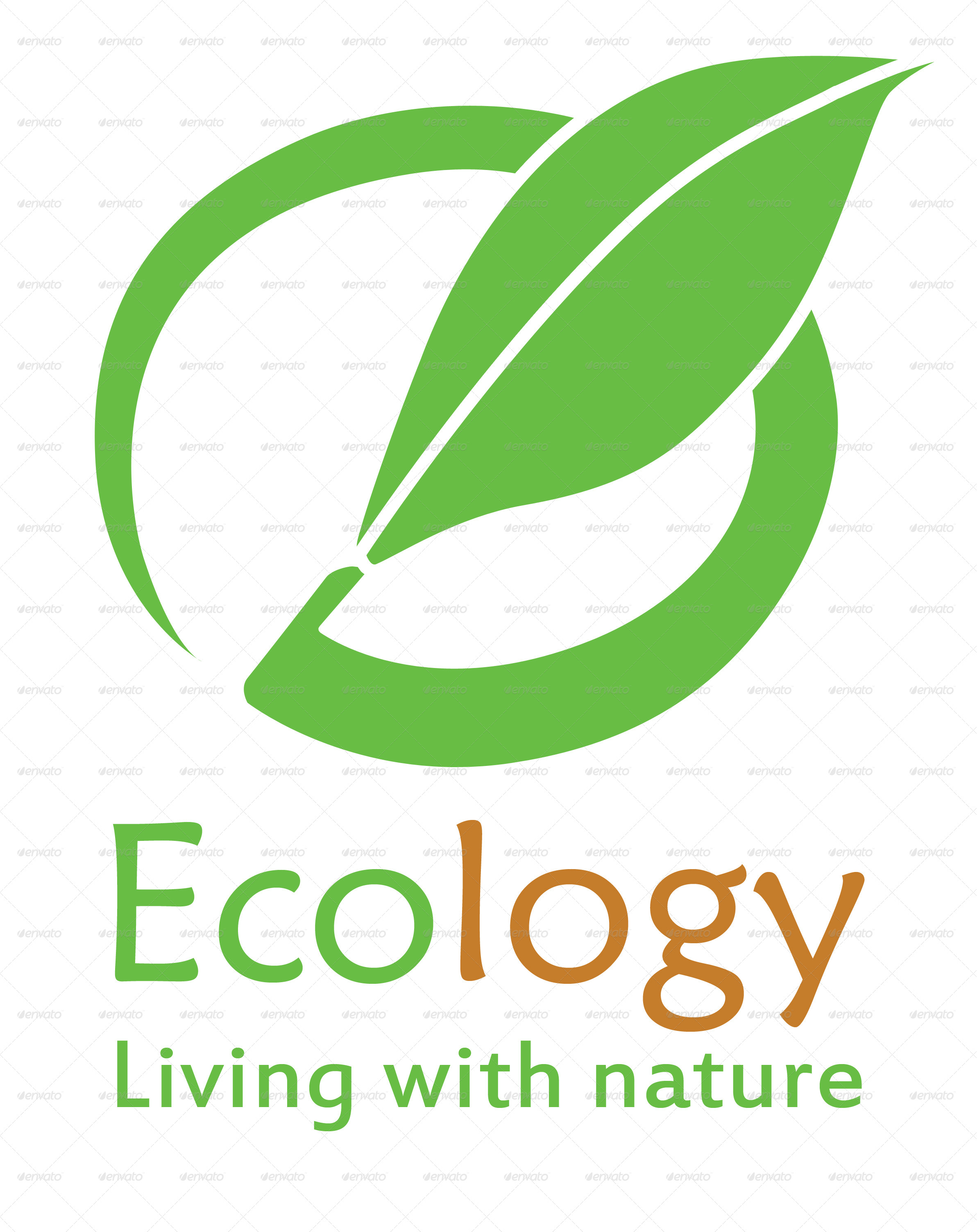 Ecology logo by pixelariskie graphicriver for Envato graphicriver
