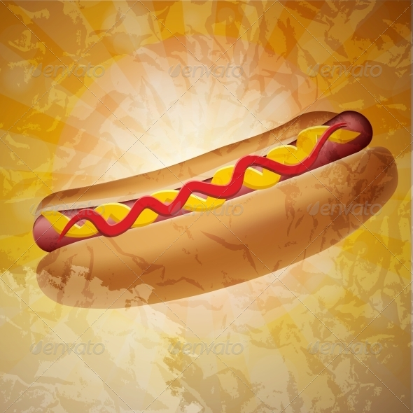GraphicRiver Realistic Hot Dog Vector Illustration 4163050