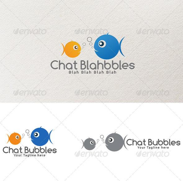 GraphicRiver Chat Bubbles Logo Template 4163176