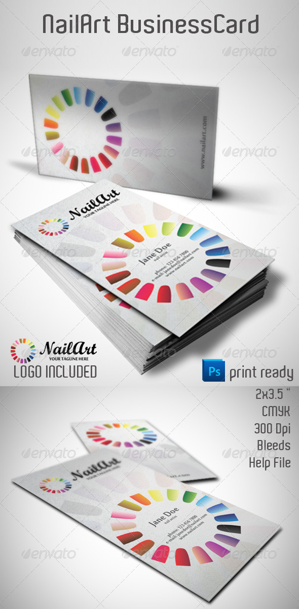 GraphicRiver NailArt Business Card 4032806