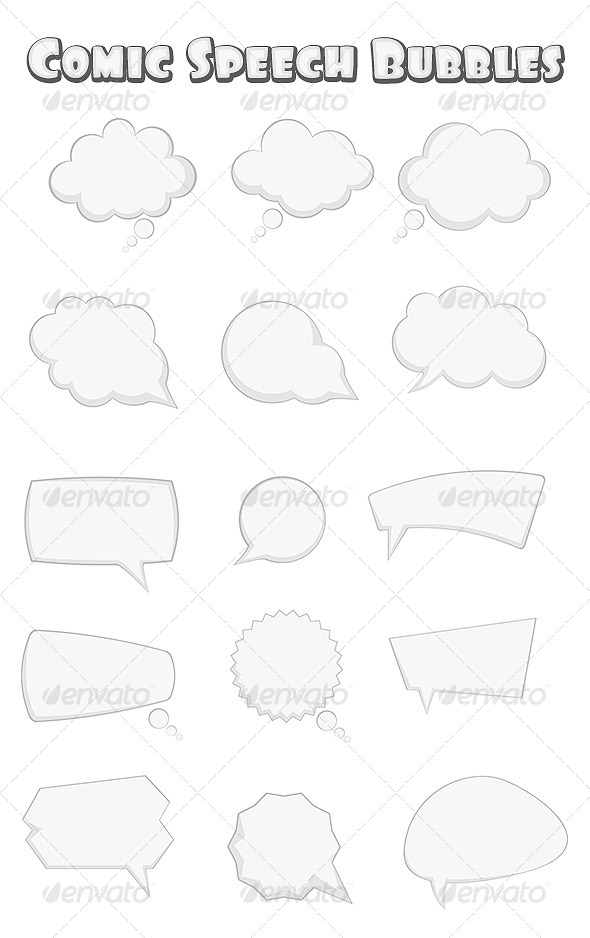 GraphicRiver Comic Speech Bubbles 4163545