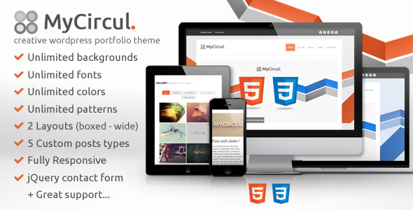 ThemeForest MyCircul Creative WordPress Portfolio Theme 3797579