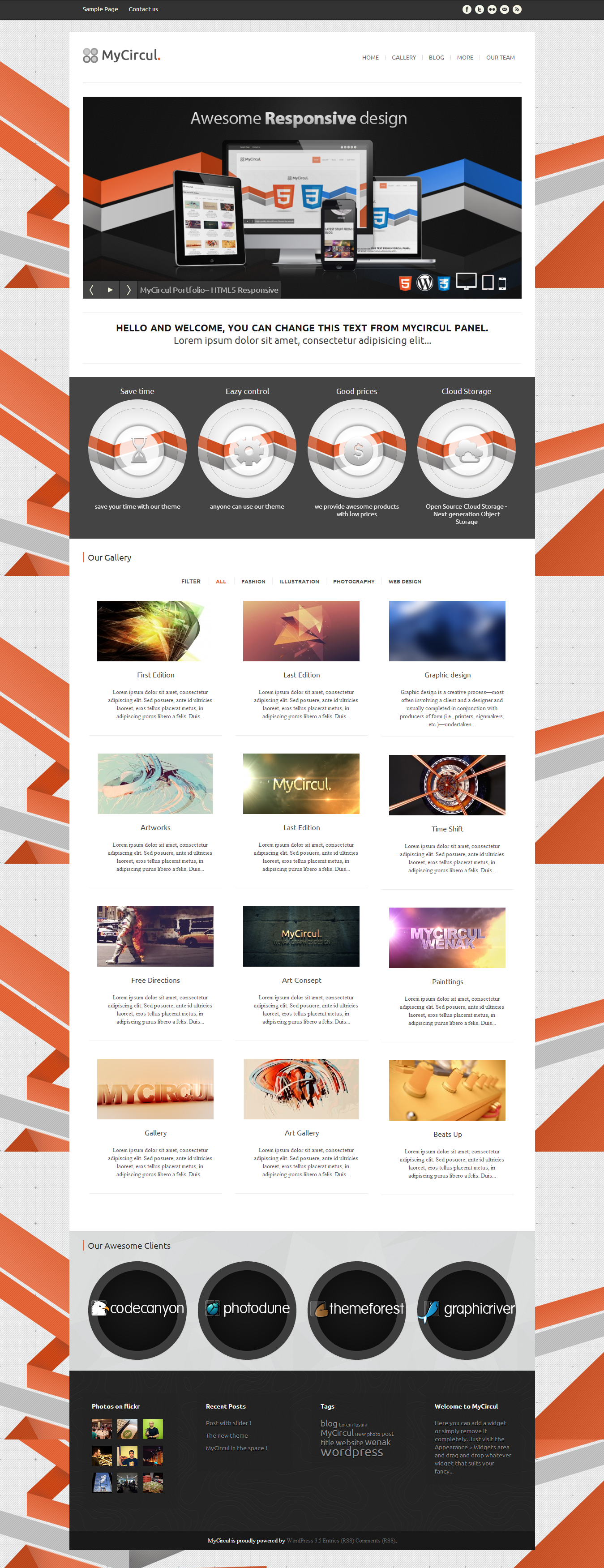 MyCircul - Creative WordPress Portfolio Theme