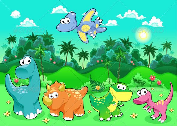 Dibujos Infantiles De Dinosaurios Para Colorear