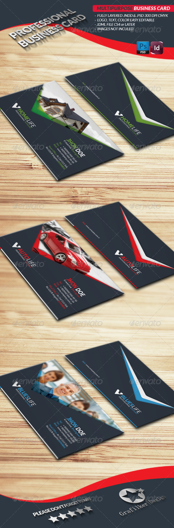 GraphicRiver Multipurpose Business Card 4030109