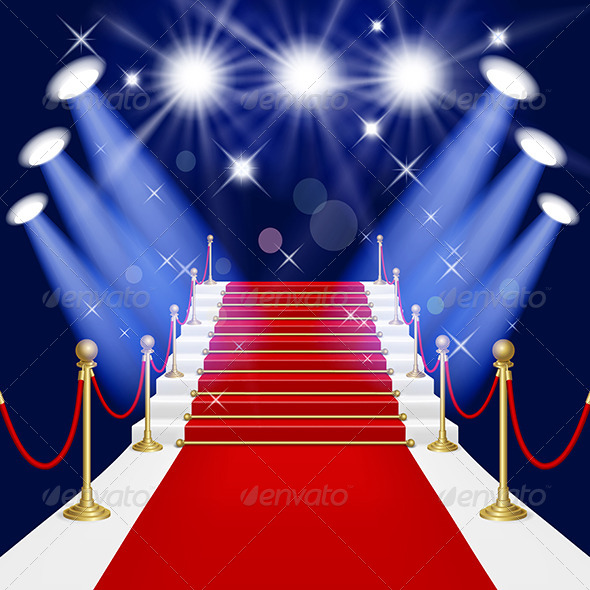 GraphicRiver Red Carpet with Ladder 4165106