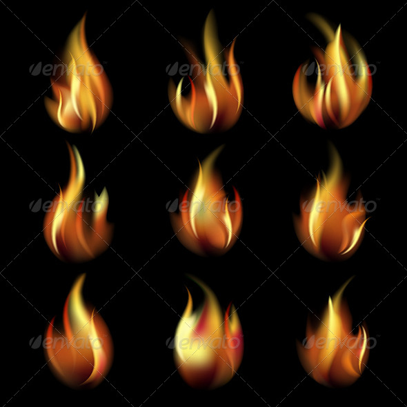 GraphicRiver Collection of Friezes from the Fire 4165110