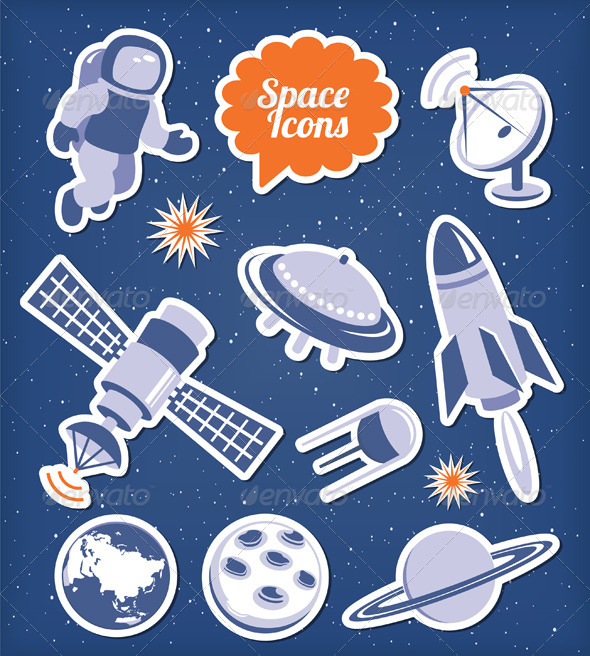 GraphicRiver Space Icons Set 4165353