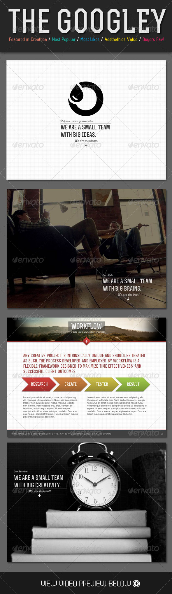 GraphicRiver Googley Business PowerPoint Template 4165432