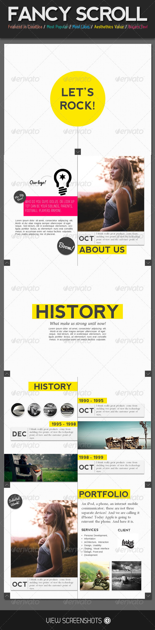 GraphicRiver Fancy Scroll Portfolio PowerPoint Template 4165641