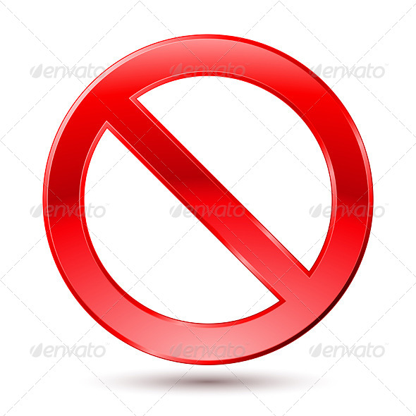 GraphicRiver Empty Ban Sign 4165666