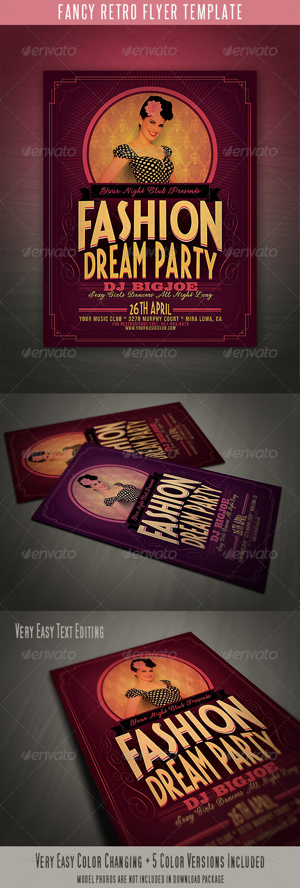 Fancy Retro Flyer Template - Events Flyers