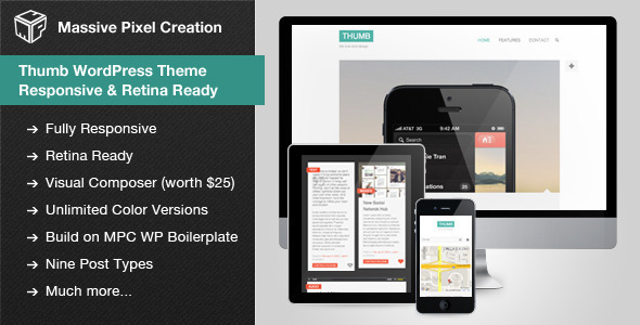 Thumb WordPress Theme - Responsive  Retina Ready